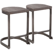 Industrial Demi Counter Stool - Set of 2