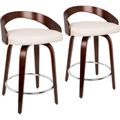 LumiSource Grotto Counter Stool 2 pk.