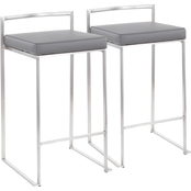 LumiSource Fuji Stacker Counter Stool 2 pk.
