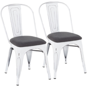 LumiSource Oregon Upholstered Chair 2 pk.