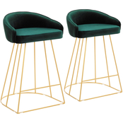 LumiSource Canary Counter Stool 2 pk.
