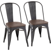 LumiSource Oregon Dining Chair 2 pk