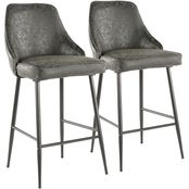 LumiSource Marcel Faux Leather Counter Stool 2 pk.