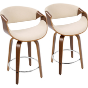 LumiSource Curvini 24 in. Counter Stool 2 pk.