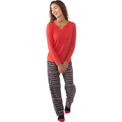 Rene Rofe 3 pc. Cozy Toesie Pajama Set