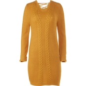 Almost Famous Juniors Puff Sleeve Sweater Dress