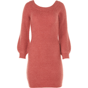 Almost Famous Juniors Eyelash Off Shoulder Sweater Dress