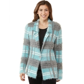 JW Plaid Eyelash Sweater Blazer