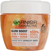 Garnier SkinActive Glow Boost 2-in-1 Facial Mask and Scrub, 6.76 fl. oz.