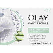 Olay Daily Facials Sensitive Cleansing Cloths with Aloe Extract 33 ct.