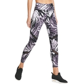 DKNY by Donna Karan Ferns Print High Waist Leggings with Mesh Inserts