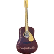 ShelterLogic Margaritaville Guitar Bottle Opener Sign