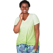 Avenue Plus Size Ombre Knot Tee