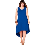 Avenue Plus Size High Lo Dress with Cage Back