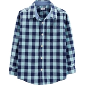 Carter's Little Boys Plaid Poplin Button Front Shirt