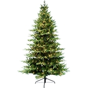 Puleo 9 ft. Pre Lit Balsam Fir Christmas Tree with 1000 Clear Lights