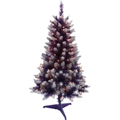 Puleo 4 ft. Pre-Lit Fashion Pink Pine Christmas Tree with 150 Lights
