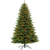 Puelo Pre Lit Franklin Fir Christmas Tree