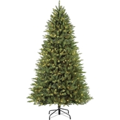 Puleo 7.5 ft. Pre Lit  Elegant Series Franklin Fir Christmas Tree with 600 Lights