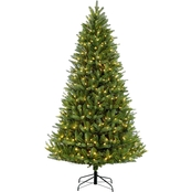 6.5 ft Pre-Lit Green Mountain Fir Christmas Tree with 500 Lights