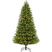 Puleo 7.5 ft. Pre Lit Green Mountain Fir Christmas Tree with 700 Lights
