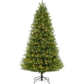 Puleo 9 ft. Pre Lit Green Mountain Fir Christmas Tree with 1000 Lights