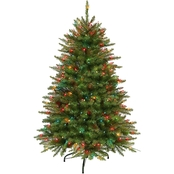 Puleo 4.5 ft. Pre Lit  Franklin Fir Christmas Tree with 250 Mutli Lights