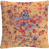 Trademark Fine Art Speckled Colorful Splatter Abstract 1 Decorative Throw Pillow