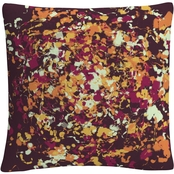 'Speckled Colorful Splatter Abstract 1' By ABC Decorative Throw Pillow