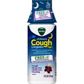 Vicks Children's Cough Congestion Night Relief Grape 6 oz.