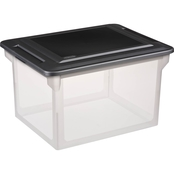 Sterilite File Box with Black Lid