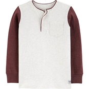 OshKosh B'gosh Boys Henley Pocket Tee