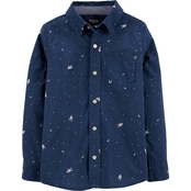 OshKosh B'gosh Boys Astronaut Button Front Shirt