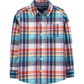 OshKosh B'gosh Boys Plaid Button Front Shirt