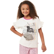 Nickelodeon Girls Jojo Ruffle Sleeve Top