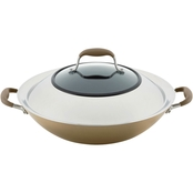 Anolon 14 inch Covered Wok With Side Handles
