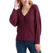 Lucky Brand Ribbed V Neck Cloud Jersey Top