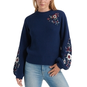 Lucky Brand Embroidered Sleeve Pullover
