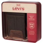 Levi's RFID Slim Front Pocket Wallet with Magnetic Money Clip