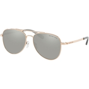 Michael Kors Mirror Aviator Sunglasses 0MK104511086G