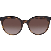 Armani Exchange Brown Havana / Brown Gradient Cateye Sunglasses