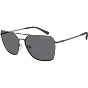 Armani Exchange Matte Dark Grey / Polar Grey Square Sunglasses