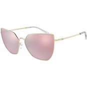Armani Exchange Rose Gold / Grey Mirror Butterfly Sunglasses