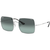 Ray-Ban Silver / Evolve Gray Gradient Blue Square Sunglasses