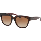Coach Tortoise / Brown Gradient Square Sunglasses