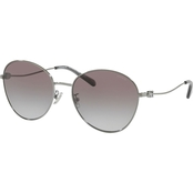 Coach Shiny Gunmetal / Gray Gradient Round Sunglasses