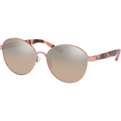 Tory Burch Shiny Light Gold Metal Round Sunglasses 0TY6071327111