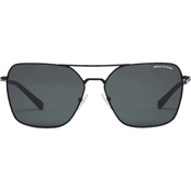 Armani Exchange Matte Black / Green Square Sunglasses