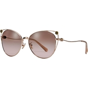 COACH Shiny Rose Gold / Brown Rose Gradient Cateye Sunglasses