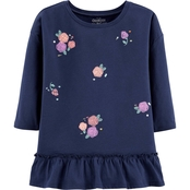 OshKosh B'gosh Little Girls Drop Shoulder Peplum Tee